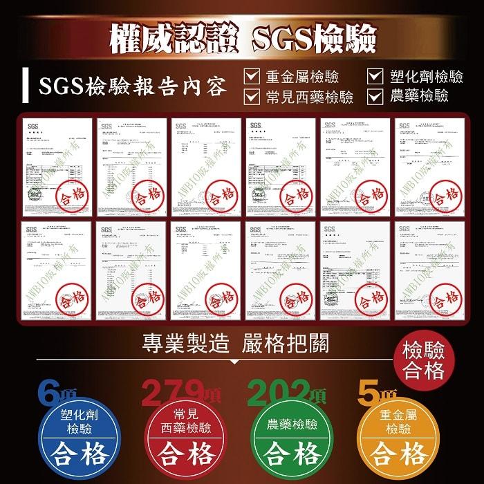 美陸生技AWBIO權威認證SGS檢驗:6項塑化劑檢驗合格、279項常見西藥檢驗合格、202項農藥檢驗合格、5項重金屬檢驗合格